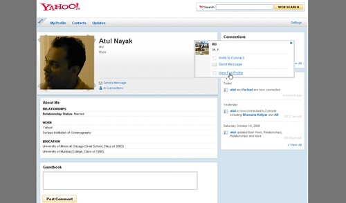 Example Yahoo! Profile
