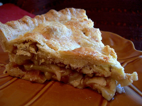Double Crusted Cheddar Apple Pie