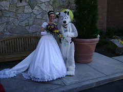 The Bride and Duncan the Dog