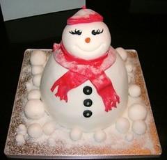 snowgirl (helenashouseofcakes) Tags: xmas flower cakes cake mouse little mickey mermaid humpty dumpty snowgirl yummycakes gorgeouscakes deliciouscakes brilliantcakes