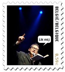 De postzegel van Tom Lanoye