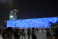 Water Cube (AudreyH) Tags: china sport beijing beijing2008 birdsnest peking paralympics herzoganddemeuron watercube nationalswimmingcentre