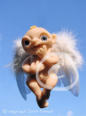 first christmas angel (Silvia Karkut) Tags: christmas sculpture angel weihnachten heaven wing himmel skulptur fimo clay sculpey engel blau cernit flügel supersculpey plymerclay