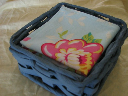 Handkerchiefs in a basket