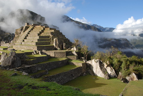 Morning Mists over South End of Machu Picchu