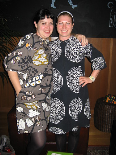 Bold print dress girls