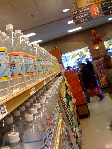 Seltzer is in the Seltzer aisle, NOT the Water aisle