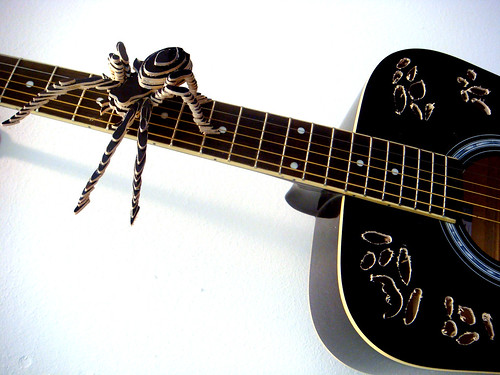 spider out of guitar