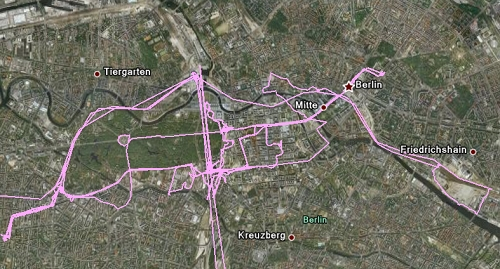 柏林軌跡圖