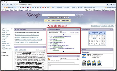 Google Reader in iGoogle