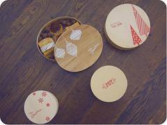 Christmas Boxes (Candi Mandi) Tags: christmas food holiday idea craft screen gift prints boxes ons rub hambly
