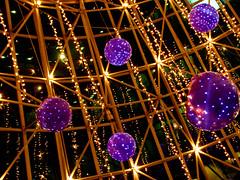 wheelock place's christmas (alaya) Tags: christmas light glass night purple steel decoration