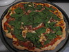 Bread Machine Pizza with Sausage and Spinach