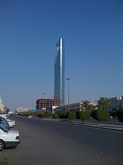 Kingdom Tower from afar - side view (BoydJones) Tags: side landmark sideview riyadh saudiarabia ksa kingdomtower