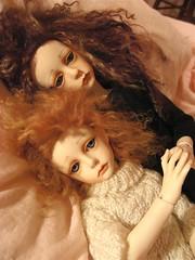 Lola & Lucy (violetpie) Tags: lucy dolls lola 7 bjd 13 dollstown seola