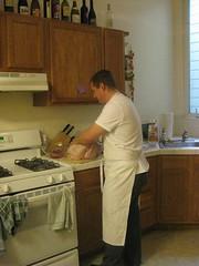 Simon sorts out the turkey