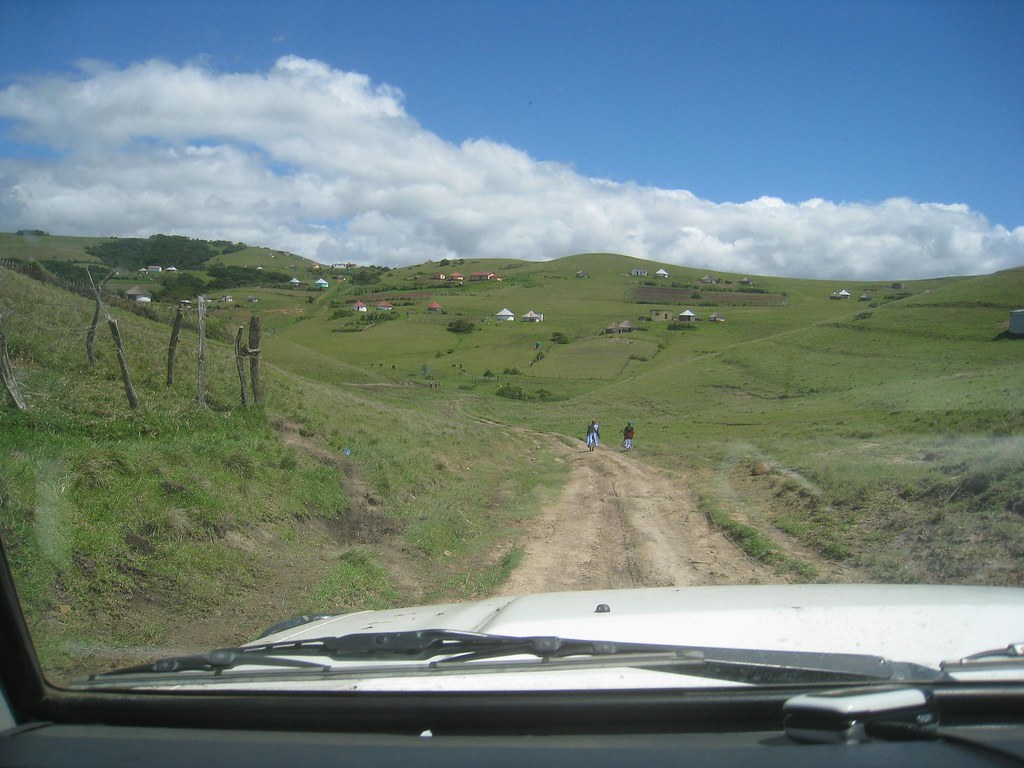 Driving through villages along South Africa's Wild Coast