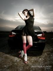 naile -405-Edit (GUSTAVO F. VELARDE) Tags: auto girl car fashion mexico model glamour models modelo bmw monterrey patines naile superaplus aplusphoto