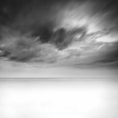 Milky Storm (Khaled A.K) Tags: sea sky blackandwhite bw seascape water clouds square cloudy sa jeddah saudiarabia khaled waterscape ksa saudia jiddah kashkari
