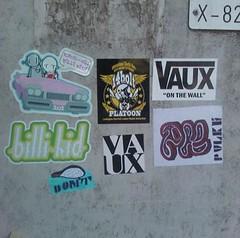 Combo! (Pulke-M) Tags: street art 1 sticker 14 jerusalem stickers bolt rwk combo robotswillkill vaux pulke 14bolt vaux1 pulkem