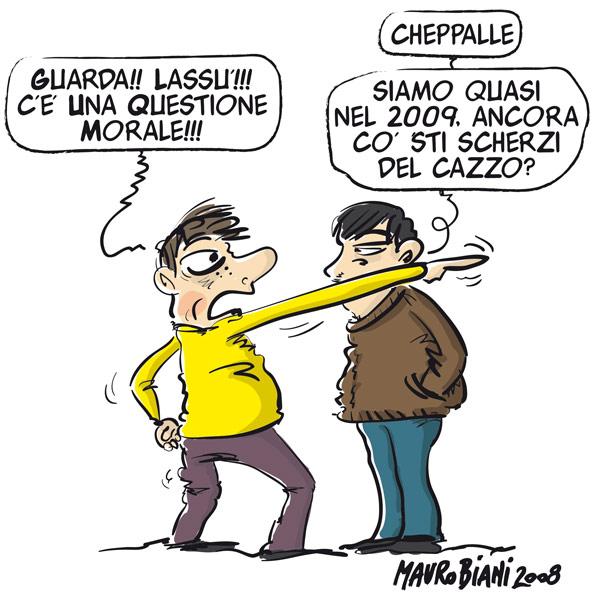 Una vignetta di Mauro Biani