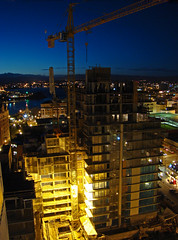 Victoria B.C. The Falls Condos under construction (thegreatscaper) Tags: city urban canada skyline britishcolumbia victoria vancouverisland capitalcity