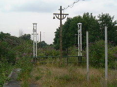 The last days of Addiscombe - starter signals (rcarpe2) Tags: station disused signal semaphore addiscombe