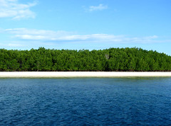 Approaching Another Island (Storm Crypt) Tags: blue sea sky tourism beach island islands coast marine philippines shore coastline seashore cluds seacoast marinelife puertoprincesa palawan hondabay