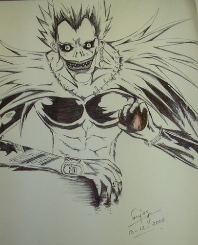 My First Sketch On Oks Ryuk Deathnote One Knight Stands