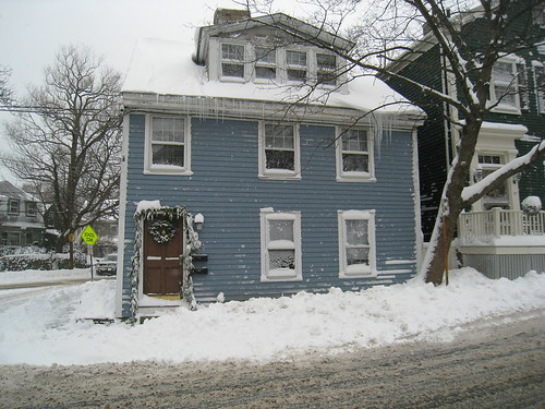 Our House after the snow storm and shoveled
