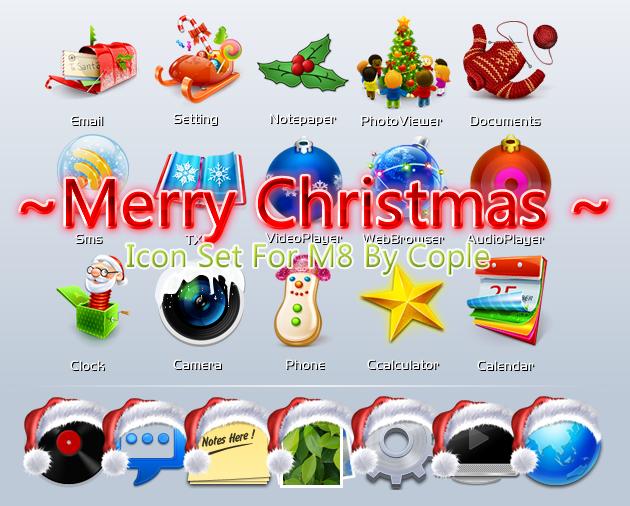M8圣诞主题图标套装 华丽分享ing