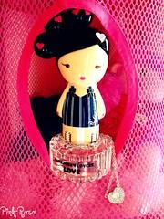 ♥ (pinkyia™) Tags: pink net girl silver necklace doll perfume heart crystal gwen picnik roro stefani pinkyia pinkroro