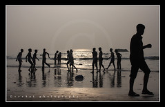 Morning Fun (venkatfotos) Tags: india playing boys fun earlymorning enjoying vizag vishakapatnam andhrapradesh kabbadi canon1855mmlens rkbeach canon40d venkatphotography venkatfotos