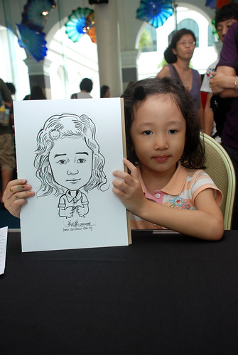 Caricature live sketching at Singapore Art Museum Christmas Open House - 3