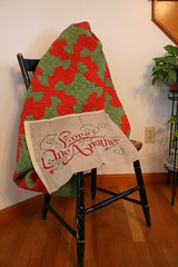 Vintage Red and Green Christmas Quilt