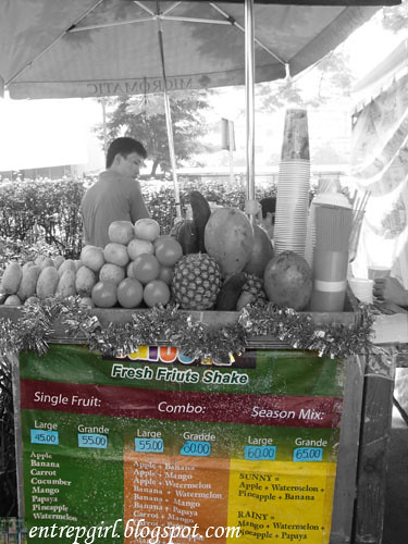Salcedo fruit shakes bw