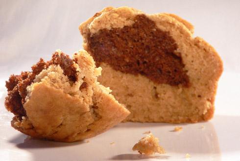 Kleine Marmorkuchen mit Schokolade & Espresso