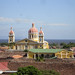 Cathedral and Lake Nicaragua in Granada, Nicaragua