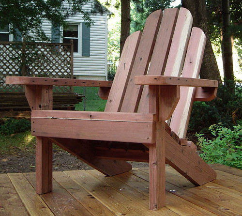 Chair made from old deck