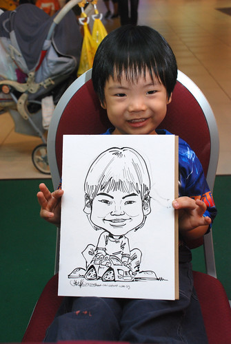 Caricature live sketching for Marina Square Day 2 - 4