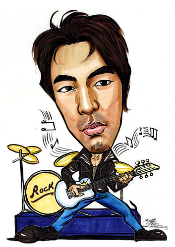 Caricature of a rock star A4