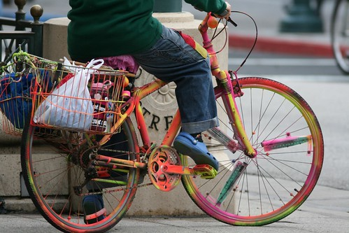 Venus and her colored bike