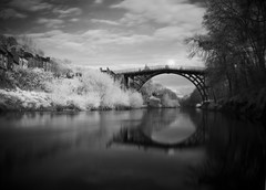 Ironbridge Infrared - Day 5 (Jason Dale) Tags: world white black heritage canon ir site shropshire with taken abraham ironbridge telford darby infrared the g9 950nm filte scpad5