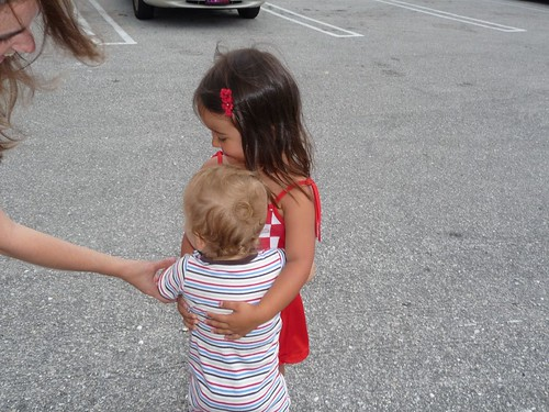ethan and ava saying good-bye.