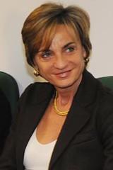 Francesca Menarini sorridente durante l'intervista