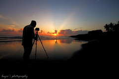 Photographer's Silhouette (Buyie | Think and Shoot !) Tags: blue sky cloud nature silhouette sunrise canon landscape flickr peace islam sigma explore chilling harmony malaysia makro fp hdr kelantan tti sigma1020 sabak 40d huluselangor eos40d pantaisabak darulquran buyie reflectionslovers klno