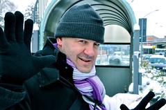 Enrico (Francesco | Ceron) Tags: street winter portrait snow black face scarf photographer purple g