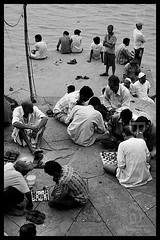 All Think... (Prshant  Bhrdwaj) Tags: people canon lost many chess thoughts varanasi om plural ganga ganges banaras prashant dfc shatranj mohre 400d gangaghat soch prashantbhardwaj