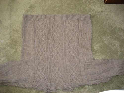 Cable Vision Cardigan back