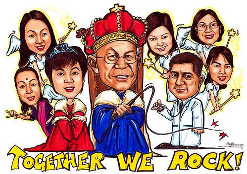 Caricatures DBM King & Queen